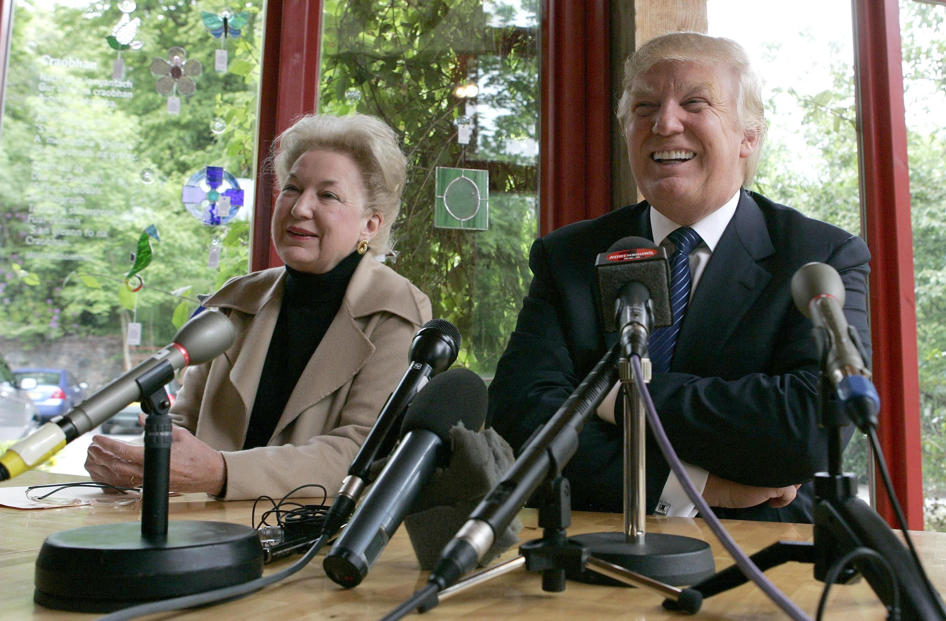 Donald Trump and Maryanne Trump Barry at a press conference in 2008.