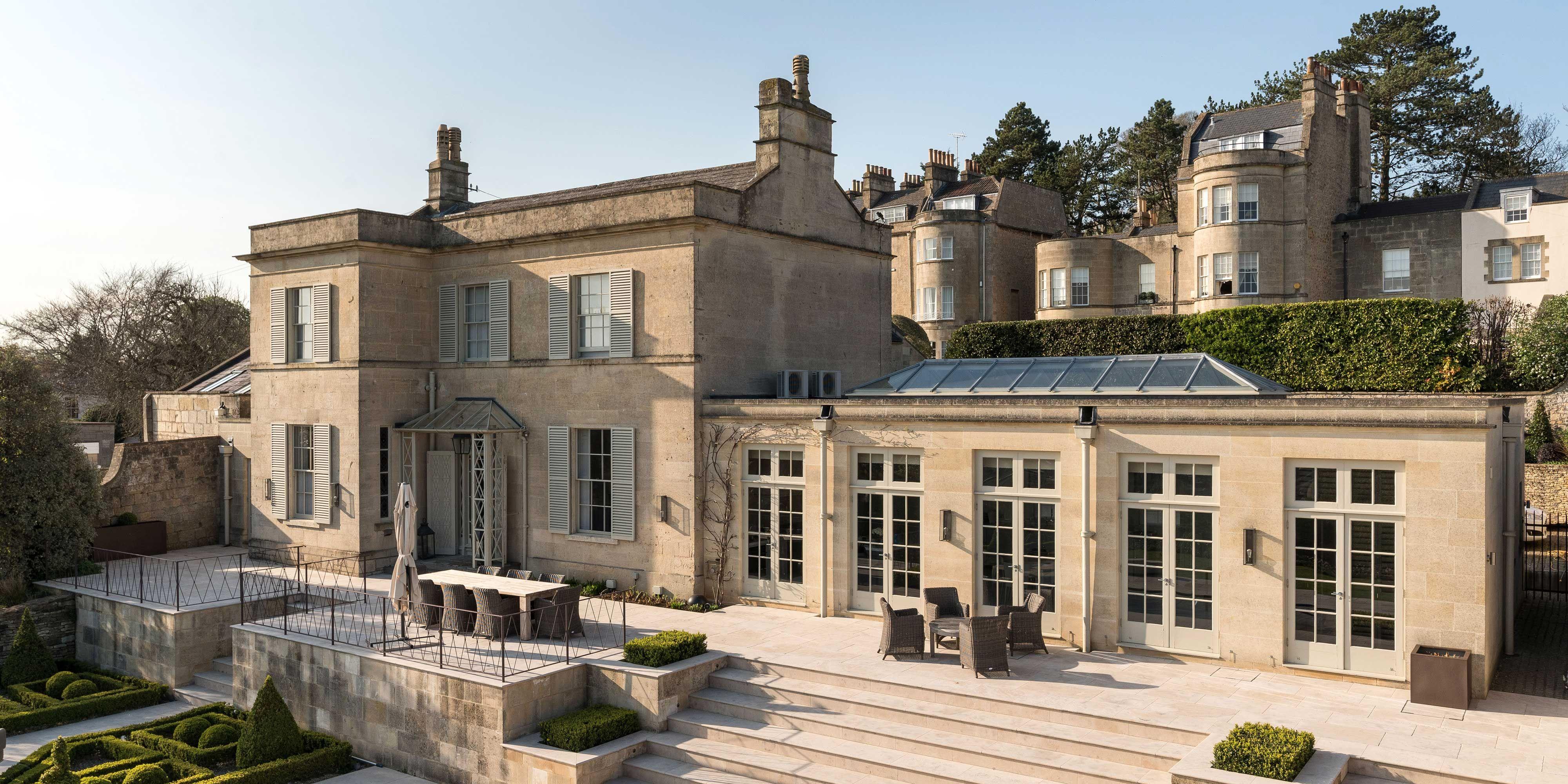 A Grade II-listed Georgian villa with sweeping views across Bath