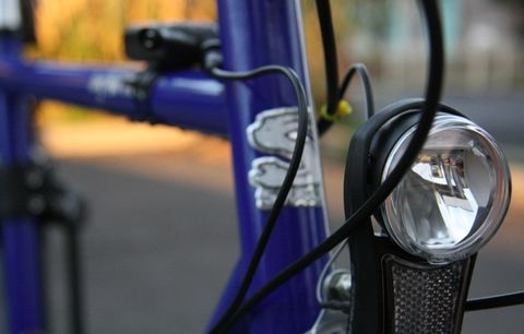 A bike light.