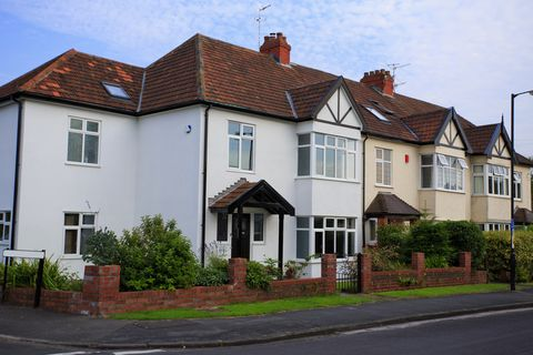 Typical 1930s semi detatched house