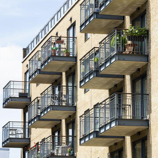 typical riverside balconies in london