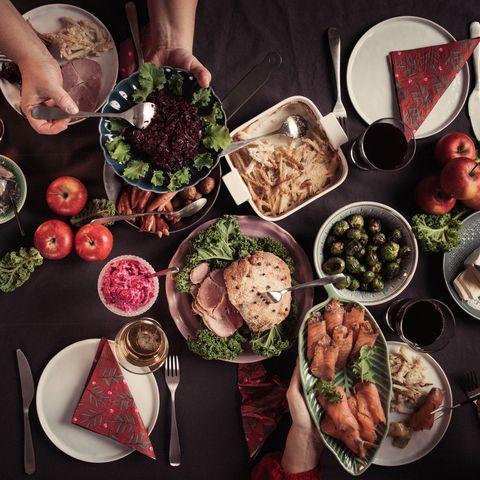 typical swedish scandinavian christmas smörgåsbord food