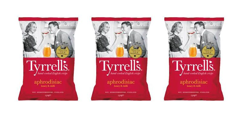 Tyrells is launching aphrodisiac crisps for Valentine's Day