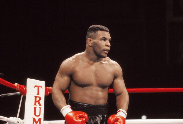 atlantic city, nj   january 22  boxer iron mike tyson in his prime at tyson vs holmes convention hall in atlantic city, new jersey january 22 1988 photo by jeffrey asher getty images