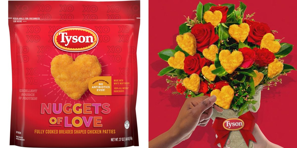 Tyson Has Heart-Shaped Chicken Nuggets For Valentine's Day Because Food Is Our Love Language