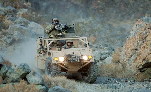 Motor vehicle, Vehicle, Off-road vehicle, All-terrain vehicle, Off-roading, Military vehicle, Military, Automotive tire, Humvee, Geological phenomenon,