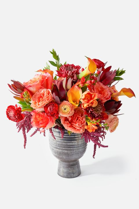 Flower, Bouquet, Flower Arranging, Floristry, Cut flowers, Plant, Orange, Floral design, Flowerpot, Red,