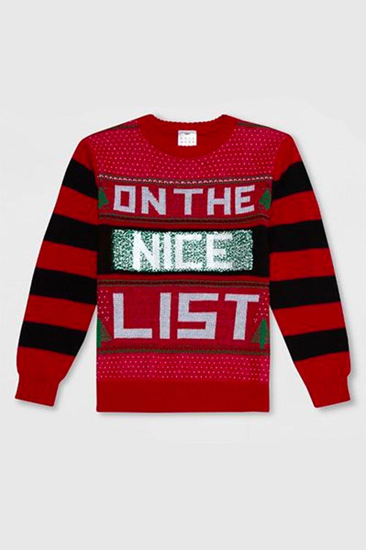 ugly christmas sweaters on nice list