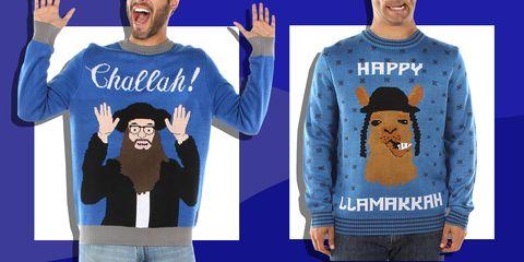 c0176032 12 Best Ugly Hanukkah Sweaters for 2018 - Funny Hanukkah Sweaters ...