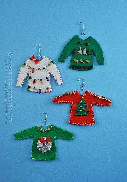 5043c1d7b 42 Homemade DIY Christmas Ornament Craft Ideas - How To Make Holiday ...