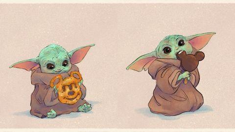 Yoda, Cartoon, Illustration, Fictional character, Animation, Art, Drawing, Marsupial, Fawn, Mouse,