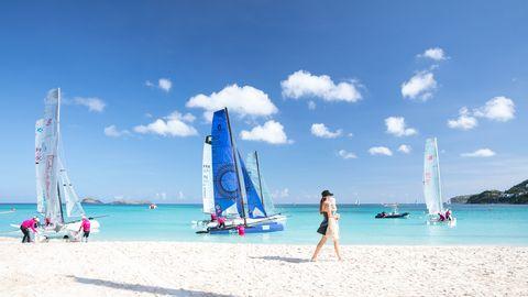 Sailing, Sail, Sailboat, Boat, Vehicle, Water transportation, Sky, Vacation, Recreation, Sailing,