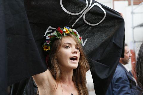 FRANCE-POLITICS-FEMEN-DEMO