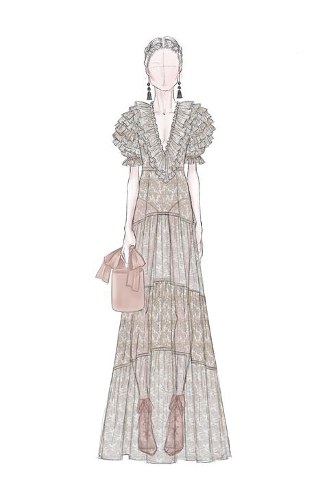 Clothing, White, Victorian fashion, Dress, Costume design, Fashion, Gown, Fashion design, Outerwear, Fashion illustration,