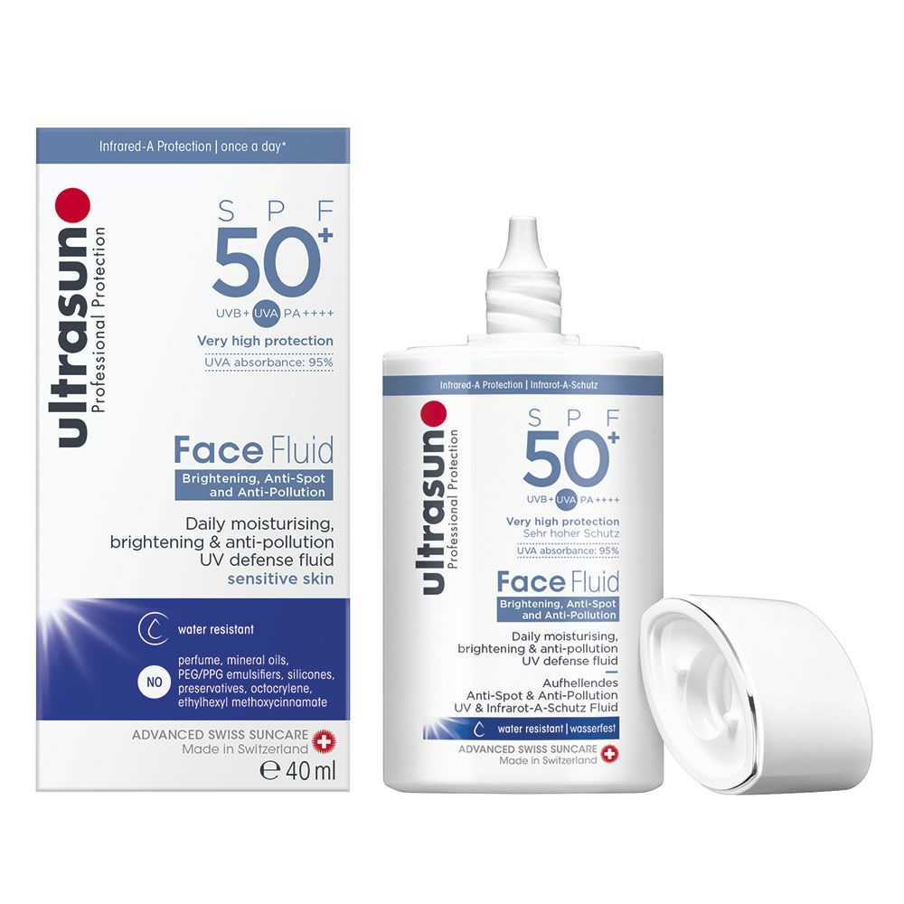 How to look younger -  Ultrasun Daily Face Fluid SPF50+ Brightening & Anti-Pollution