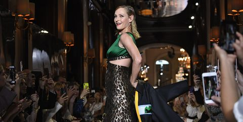 583709cba301 Uma Thurman leads a star-studded cast at the Miu Miu 2019 Cruise ...