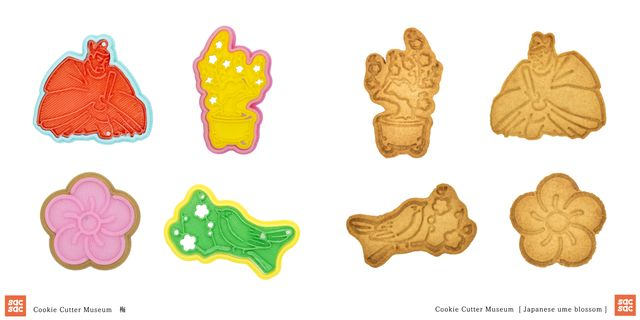 cookie cutter museum 梅クッキー型とクッキー