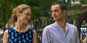 Inez Bjorg David y Nilolai Kinski en la pelicula Un verano en Vietnam