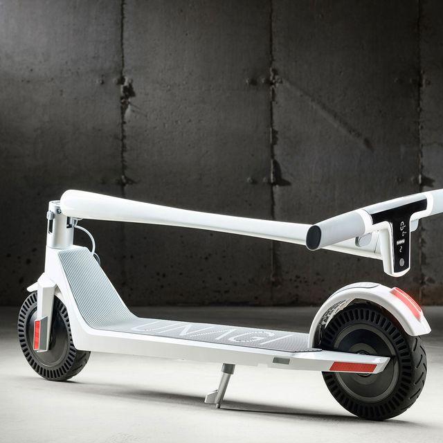 unagi white electric scooter