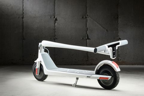 unagi white electric scooter