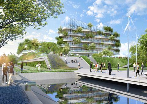 Semaphore, una utopía ecológica, edificio vderde y ciudad del futuro de Vincent Callebaut Architectures