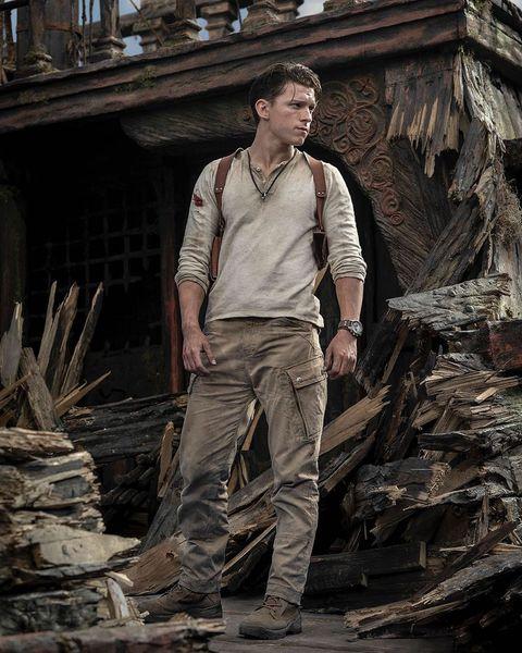 imagen de tom holland como nathan drake en 'uncharted'