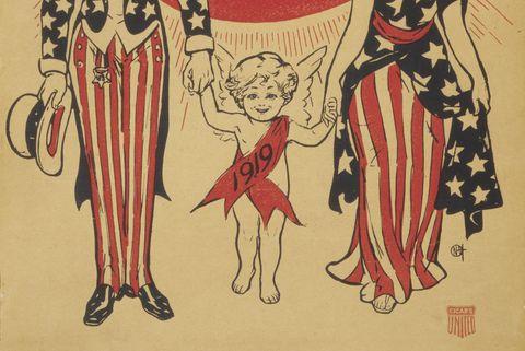 History of Baby New Year - Baby New Year Cartoon 1919