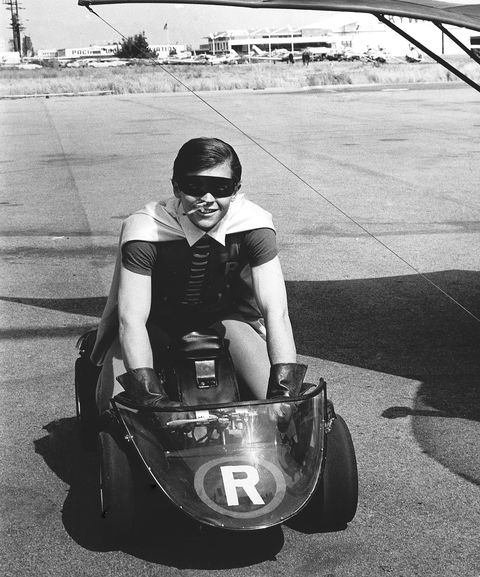 Burt Ward As Robin Shown Riding Cart