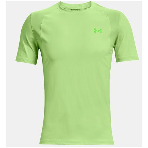 men's ua isochill run short sleeve hardloopshirt neon hardloopkleding tshirt