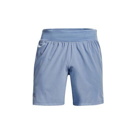 under armour speedpocket 7 shorts hardloopbroekje broekje korte broek hardloopshorts blauw