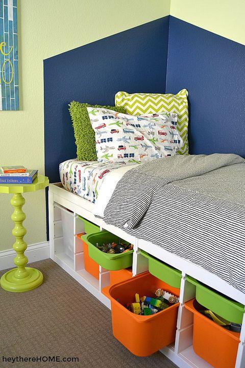 under bed storage ideas - platform bed