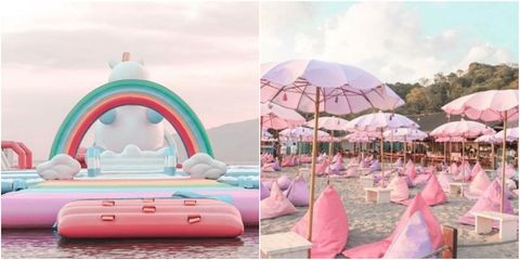 Pink, Inflatable, Games, Recreation, Architecture, Tent, Leisure, bounce house, Arch, Travel,