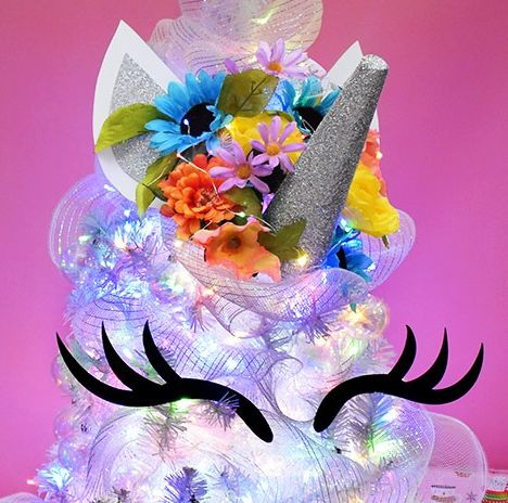 unicorn christmas trees