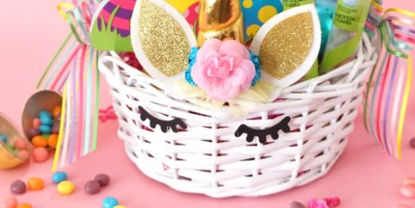 Unicorn Basket - Easter Basket Ideas