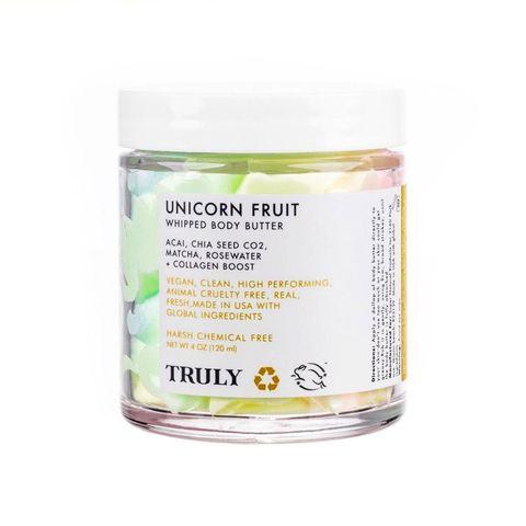 manteca corporal unicorn fruit, de truly