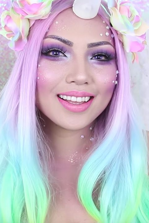 unicorn halloween makeup