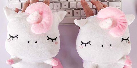 Stuffed toy, Plush, Pink, Toy, Textile,