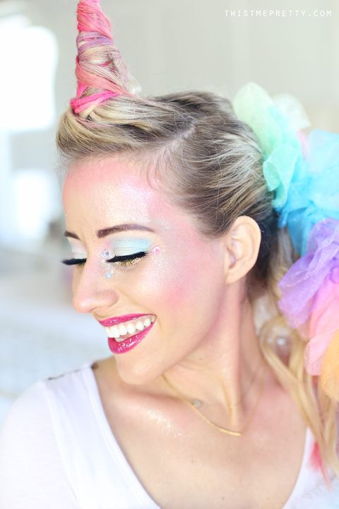diy unicorn costume makeup