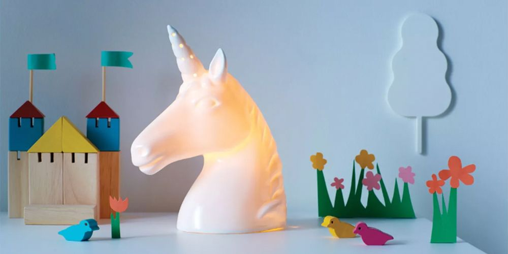 This Ceramic Unicorn Night Light From Target Is So Cool, You'll Want to Steal It From Your Kid's Room