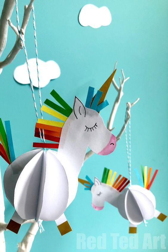 unicorn ornaments paper