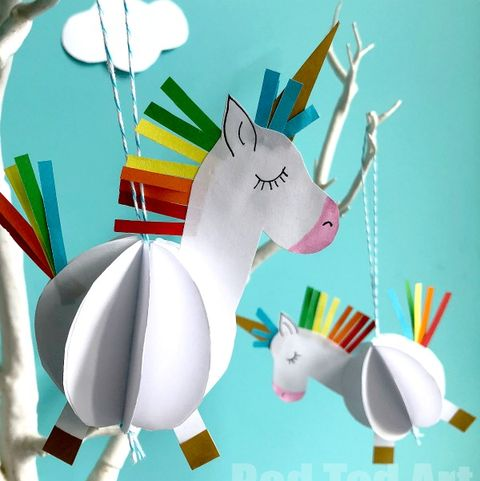 unicorn ornaments paper