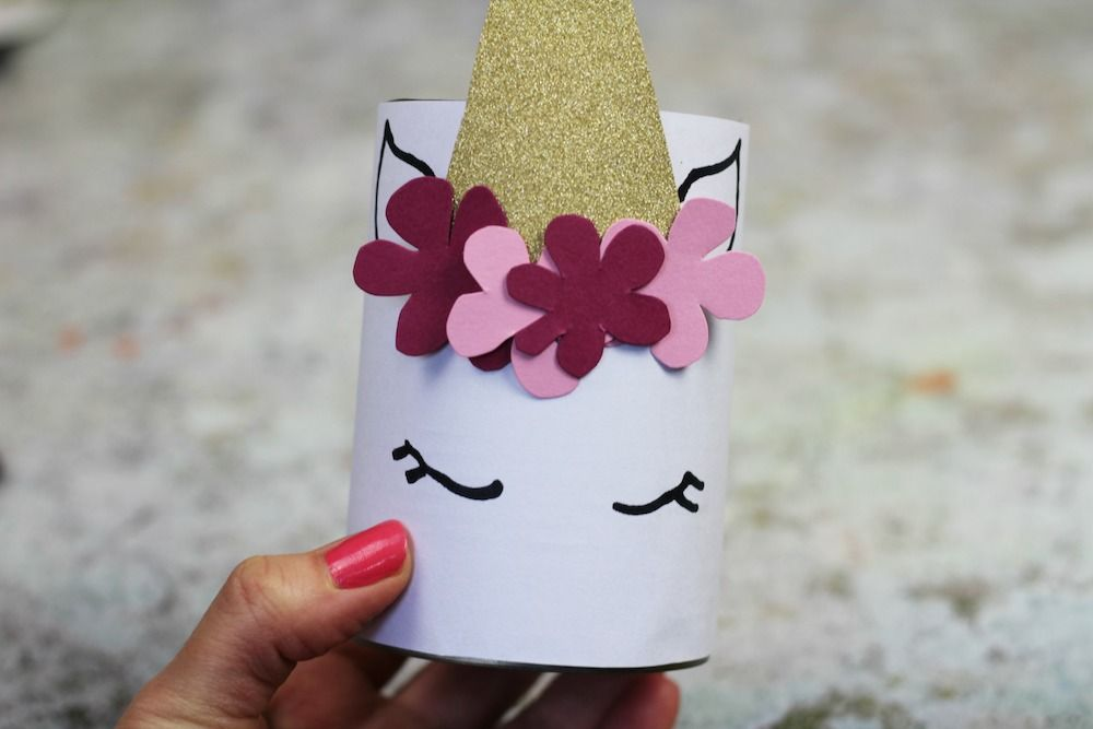How to make a unicorn pen pot with the kids