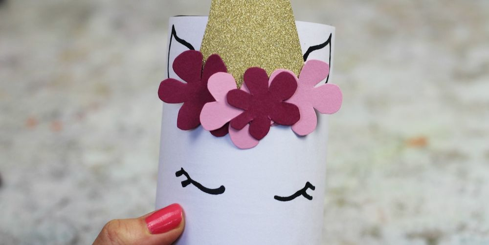 make your ownUnicorn pen pot