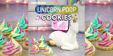 These unicorn poop cookies are almost too cute to eat