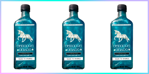 Blue, Product, Bottle, Liquid, Aqua, Teal, Turquoise, Font, Azure, Logo,