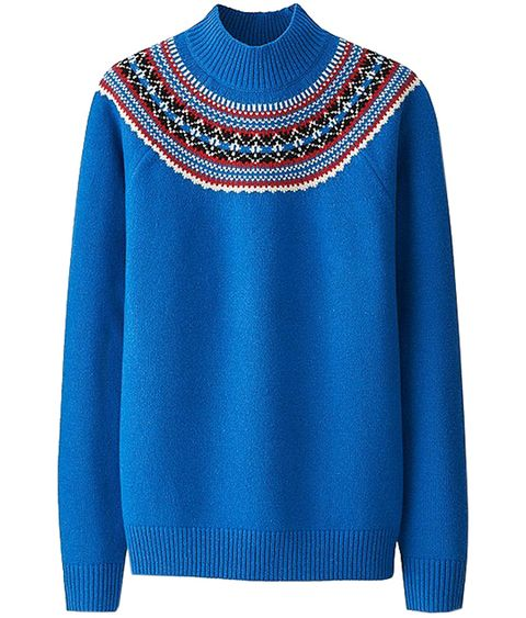 Clothing, Blue, Sleeve, Sweater, Neck, Turquoise, Cobalt blue, Electric blue, Wool, Outerwear,
