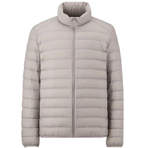 Clothing, Outerwear, Jacket, White, Hood, Sleeve, Beige, Puffer, Collar, Parka,