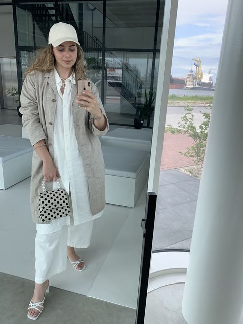 Uniqlo linnen, team ELLE OOTD