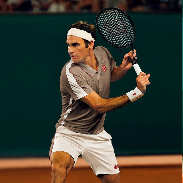 024cd160 Uniqlo Outfits Roger Federer and Kei Nishikori for the 2019 French Open