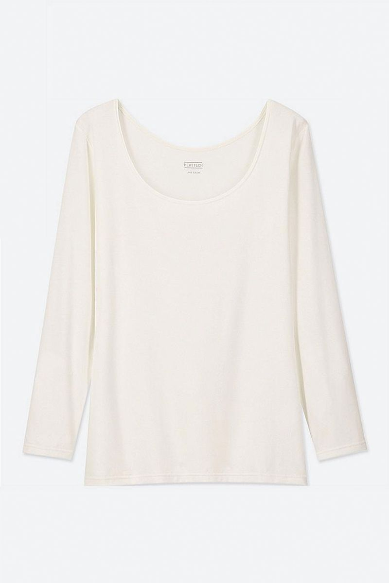 Uniqlo long white t-shirt